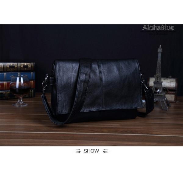 メッセンジャーバッグ メンズ ショルダーバッグ 大きめ A4 カバン バッグ 蓋付き ビジネスバッグ 斜めがけバッグ 通学 通勤 多収納 2019 新生活 aloha0118 17
