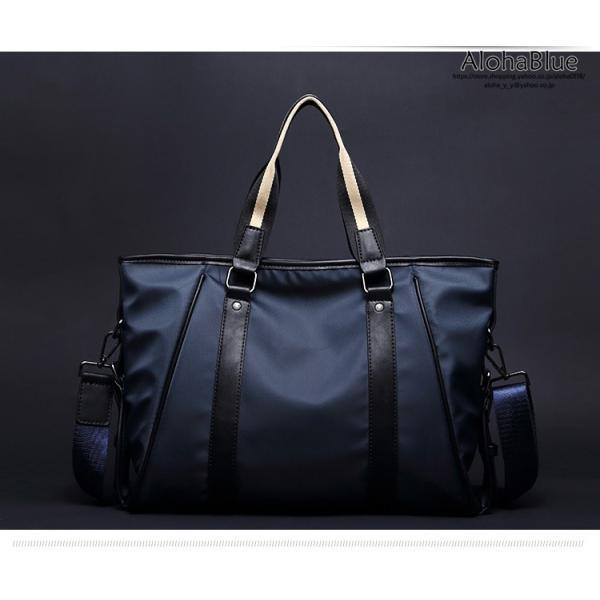 トートバッグ メンズ ビジネスバッグ かばん カバン 鞄 ナイロン 防水 撥水 A4 ショルダーバッグ 2WAY 通勤 通学 ビジネス 2019 新生活|aloha0118|02