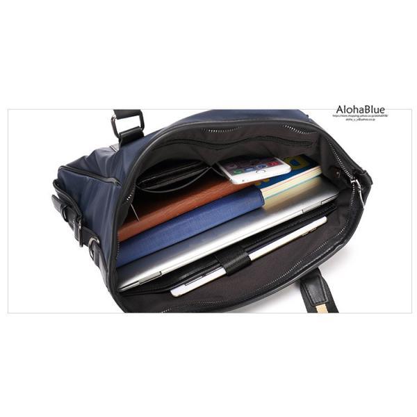 トートバッグ メンズ ビジネスバッグ かばん カバン 鞄 ナイロン 防水 撥水 A4 ショルダーバッグ 2WAY 通勤 通学 ビジネス 2019|aloha0118|15