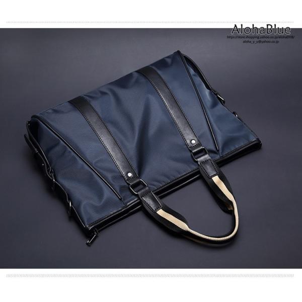 トートバッグ メンズ ビジネスバッグ かばん カバン 鞄 ナイロン 防水 撥水 A4 ショルダーバッグ 2WAY 通勤 通学 ビジネス 2019|aloha0118|04