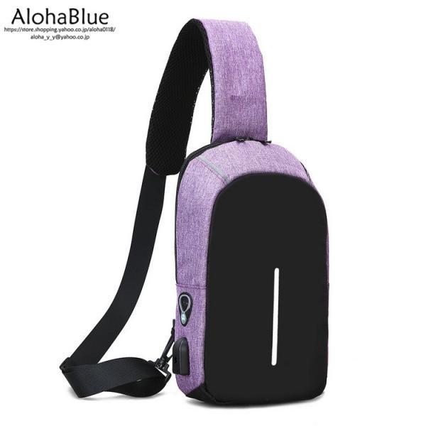 ボディバッグ メンズ バッグ 鞄 ボディバック 斜め掛け カバン 人気 かばん 機能性 USB充電ポート イヤホンポート お出かけ 2019 新生活 aloha0118 11
