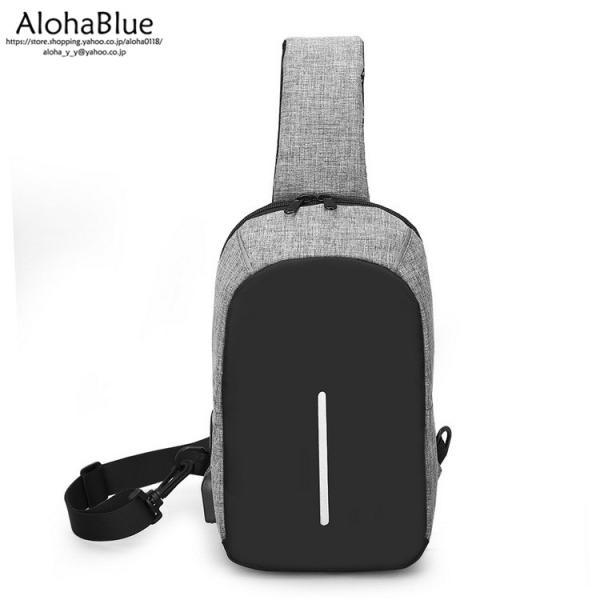 ボディバッグ メンズ バッグ 鞄 ボディバック 斜め掛け カバン 人気 かばん 機能性 USB充電ポート イヤホンポート お出かけ 2019 新生活 aloha0118 13