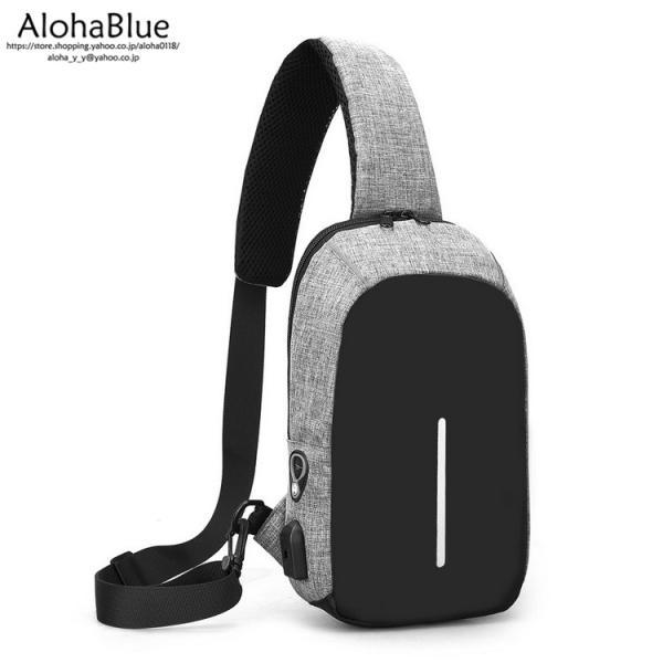ボディバッグ メンズ バッグ 鞄 ボディバック 斜め掛け カバン 人気 かばん 機能性 USB充電ポート イヤホンポート お出かけ 2019 新生活 aloha0118 14