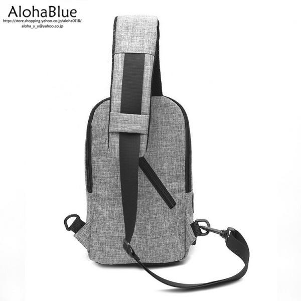 ボディバッグ メンズ バッグ 鞄 ボディバック 斜め掛け カバン 人気 かばん 機能性 USB充電ポート イヤホンポート お出かけ 2019 新生活 aloha0118 16