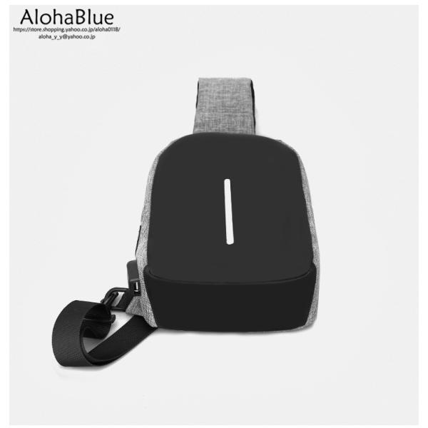 ボディバッグ メンズ バッグ 鞄 ボディバック 斜め掛け カバン 人気 かばん 機能性 USB充電ポート イヤホンポート お出かけ 2019 新生活 aloha0118 17