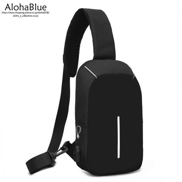 ボディバッグ メンズ バッグ 鞄 ボディバック 斜め掛け カバン 人気 かばん 機能性 USB充電ポート イヤホンポート お出かけ 2019 新生活 aloha0118 10