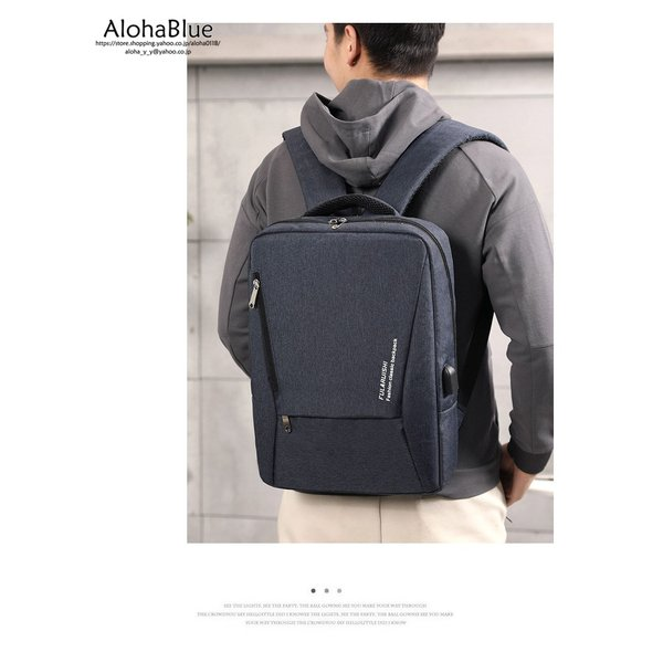 バックパック カバン メンズ ビジネスバッグ 大容量 ビジネスリュック 通勤バッグ リュック リュックサック USB充電ポート PC タブレット|aloha0118|13