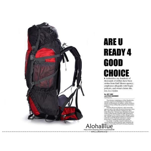 カバン メンズ レディース 登山リュック 大容量 登山バッグ リュックサック キャンプ アウトドア 撥水リュック 80+5L 防災 遠足 2019|aloha0118|13