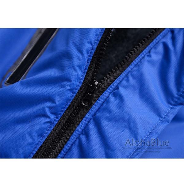 登山ウェア メンズ マウンテンジャケット アウトドア 裏起毛 マウンテンパーカー ハイキングジャケット 防水 防寒着 厚手 2019|aloha0118|09