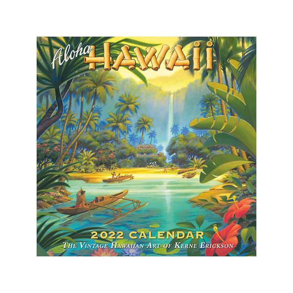 2022年版 ハワイ デラックスカレンダー 12ヶ月 壁掛けカレンダー Aloha HAWAII Kerne Erickson