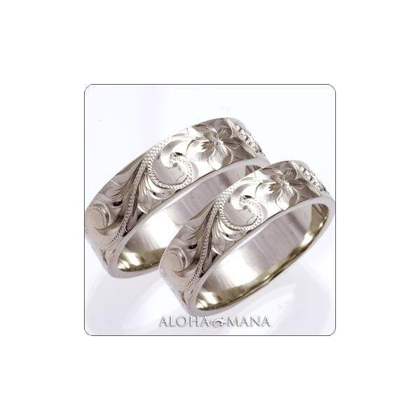 ハワイアンジュエリー 結婚指輪 マリッジリング ペアリング 14金18金プラチナ Weliana ONLY ONE フラット cdr009