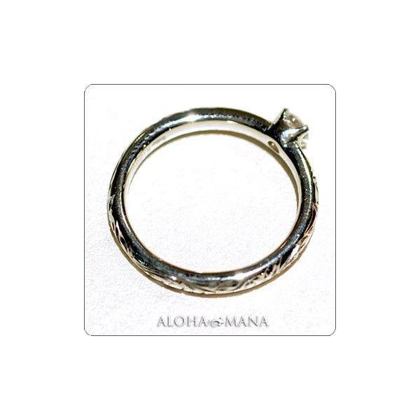 ハワイアンジュエリー 指輪リング Maxi マキシ プリンセス エンゲージメントリング ダイヤ0.15ct K18ゴールド mxrier11c