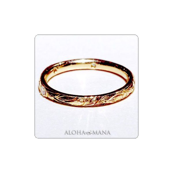 ハワイアンジュエリー 結婚指輪 Maxi マキシ K18ゴールド プリンセスマリッジペアリングセット mxrimr9a11a