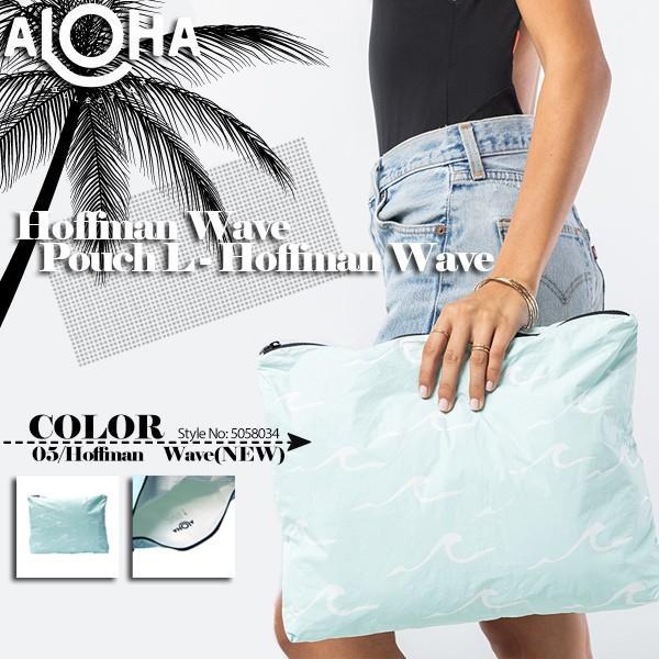 アロハコレクション  撥水ポーチ レディース 新作 ギフト 青 A4サイズ以上 タイベック Aloha Collection Transfer Pouch Lサイズ 5058034