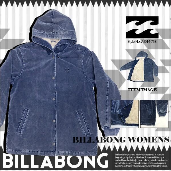 ビラボン レディース ベルベットジャケット BILLABONG AJ014-758