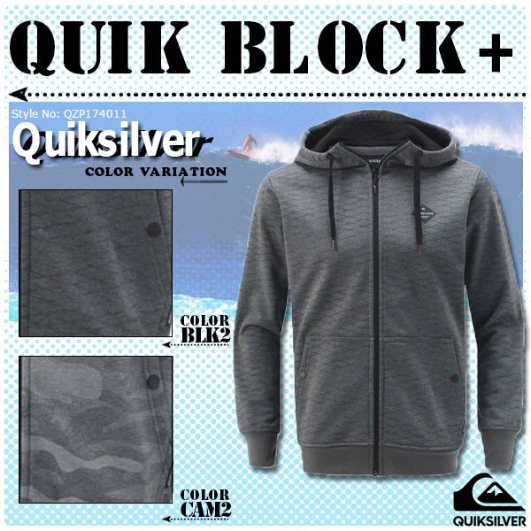 クイックシルバー パーカー メンズ QUIK BLOCK+ QUIKSILVER QZP174011