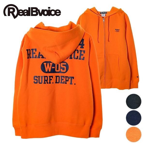 リアルビーボイス ジップアップパーカー メンズ W-05 SURF DEPT. ZIP UP HOODIE RealBvoice 10191-10717