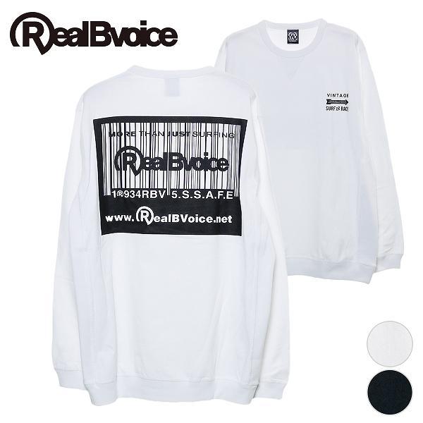 リアルビーボイス ロングTシャツ メンズ BARCODE RIB LONG T-SHIRT RealBvoice 10191-10901