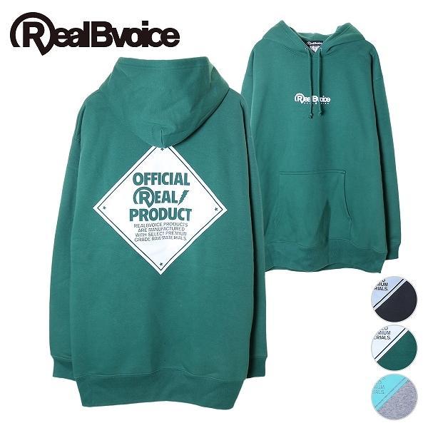 リアルビーボイス プルオーバーパーカー メンズ CAUTION SIGN PARKA RealBvoice 10191-10909A