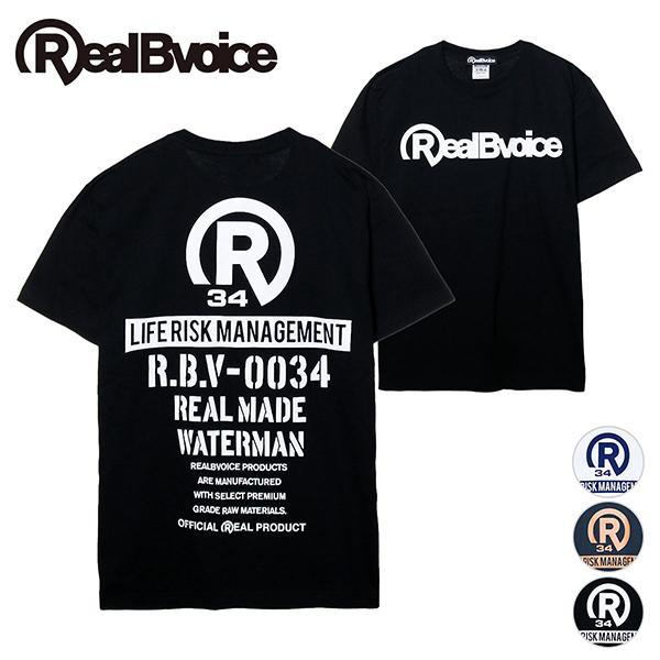 リアルビーボイス Tシャツ メンズ LIFE RISK MANAGEMENT T-SHIRT RealBvoice 10231-11038