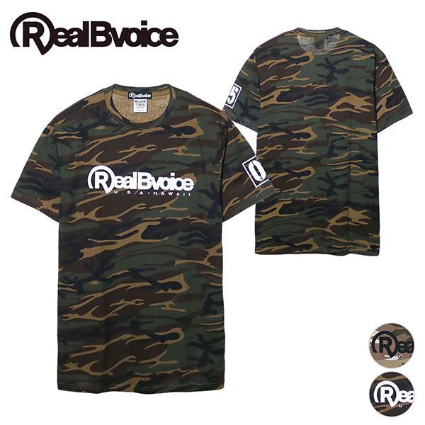 リアルビーボイス Tシャツ メンズ BASIC LOGO 05 CAMOUFLAGE T-SHIRT RealBvoice 10231-11050