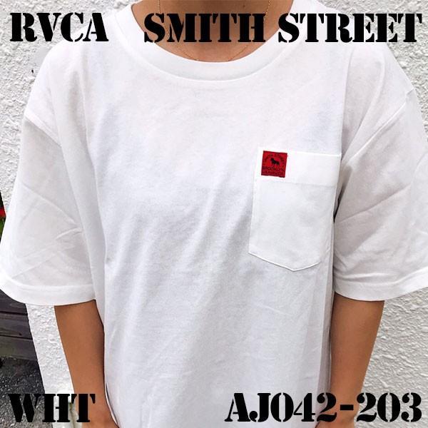ルーカ メンズ SMITH STREET WICKS POCKET T-SHIRT Tシャツ/バックプリント 半袖 RVCA AJ042-203