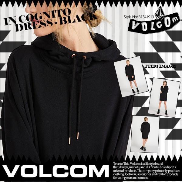 ボルコム レディース パーカー フーディー JIn Cognito Dress - Black VOLCOM B1341913