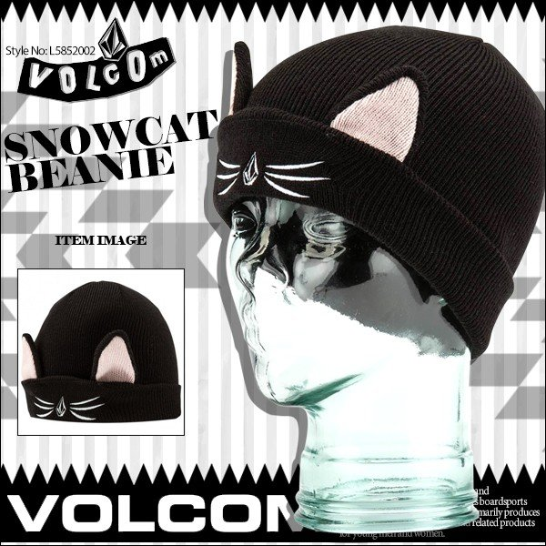 ボルコム キッズ ビーニー ニット帽子 SNOWCAT BEANIC VOLCOM L5852002