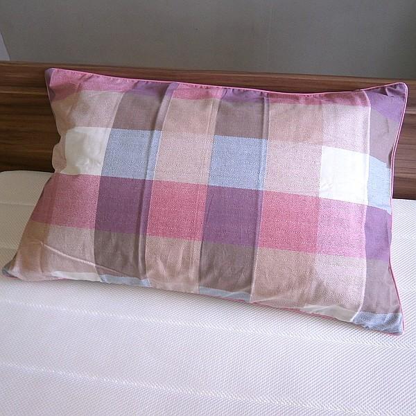 チェック柄 枕カバー ファスナー付き サイズ 43x63cm 綿100% 日本製 alor21 02