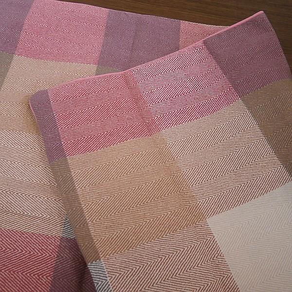 チェック柄 枕カバー ファスナー付き サイズ 43x63cm 綿100% 日本製 alor21 05