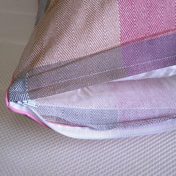 チェック柄 枕カバー ファスナー付き サイズ 43x63cm 綿100% 日本製 alor21 06