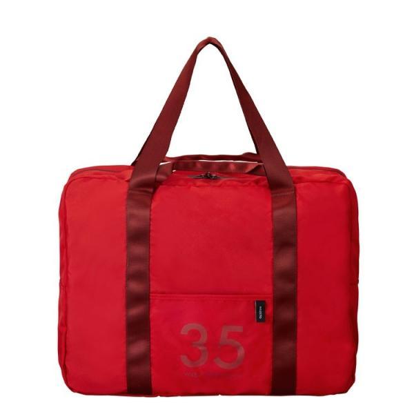 MILESTO ミレスト 折りたたみバッグ 衣類 収納 旅行用品 ポケッタブル ボストンバッグ 35L レッド MLS525