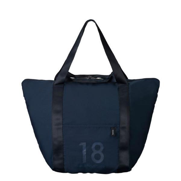 MILESTO ミレスト 折りたたみバッグ 衣類 収納 旅行用品 ポケッタブル トートバッグ 18L ネイビー MLS527