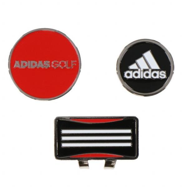 アディダス Core 2way Marker ブラック/ レッド ADM903 キャップマーカー、ポケットマーカーと2Wayが可能な便利マーカー ゴルフ マーカー adidas