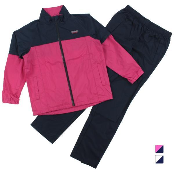 コルウィンレディースゴルフウェアレイン上下セットKO-1R2189S切替配色がキュートピンク×ネイビーKolwin
