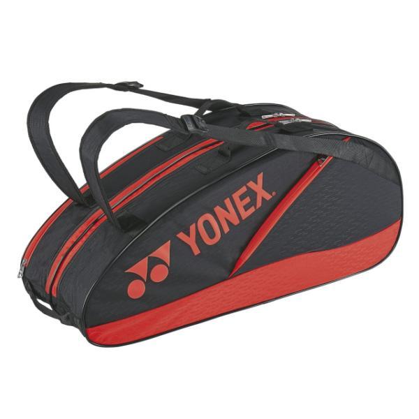 ヨネックス ラケットバック6 リュック付 BAG2132R テニス バドミントン ラケットバッグ 6本用 : ブラック×レッド YONEX
