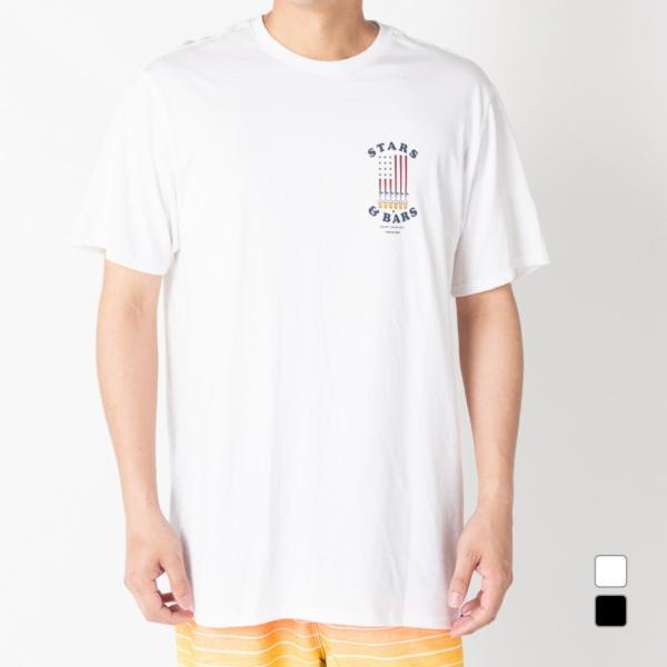 ハーレー メンズ サーフ 半袖Tシャツ M PRM STARS AND BARS TEE SS (BV0883) Hurley
