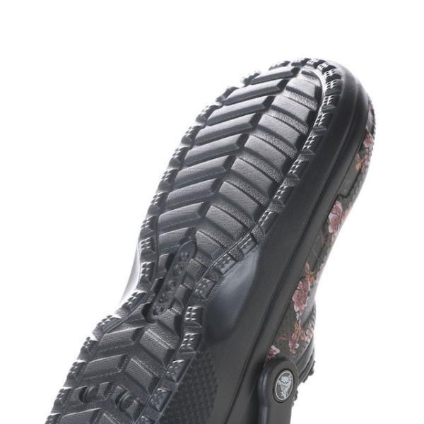 クロックス クラシック ラインド グラフィック クロッグ 203592 クロッグサンダル Classic Lined Graphic Clog : ブラック crocs|alpen-group|05