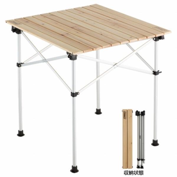 Coleman コールマン テーブル ナチュラルウッドロールテーブル/65 2000023502 NATURAL WOOD ROLL TABLE
