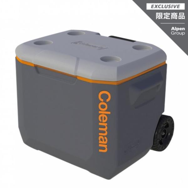 コールマン ホイールクーラー/60QT グレー (2000030445) キャンプ ハードクーラー 56L Coleman alpen-group