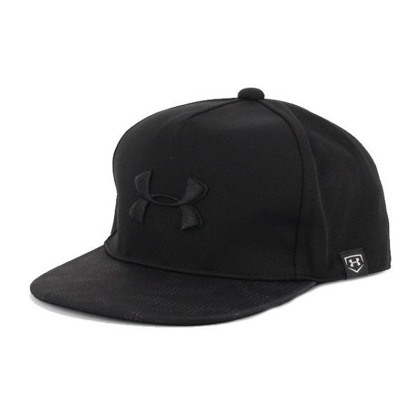 dc0833ca65a6f アンダーアーマー UNDER ARMOUR メンズ 野球 キャップ UA Baseball Flatbrim Cap 1331525 (ブラック)|  ...