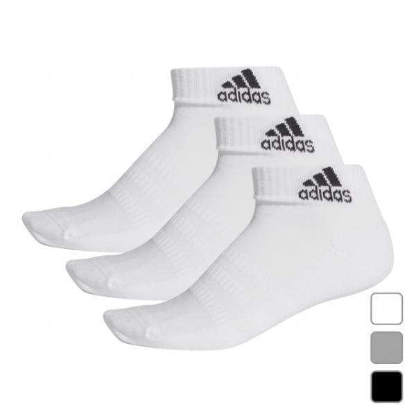 アディダス3Pソックスパフォーマンスショートソックス(FIX63)3足組靴下adidas
