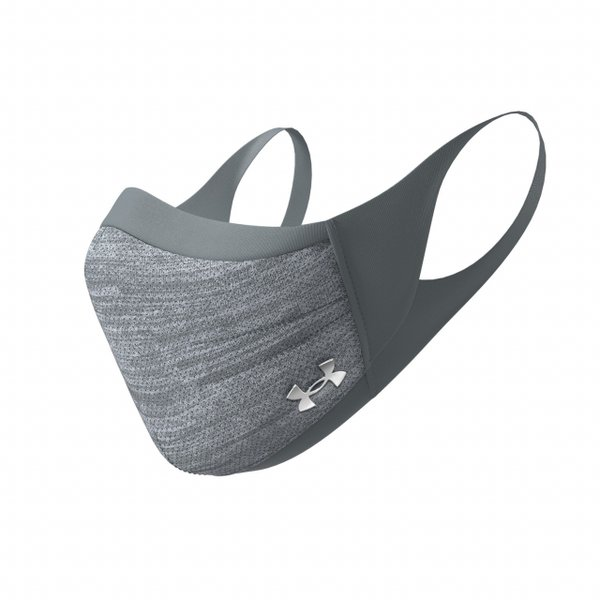 アンダーアーマー 洗えるマスク UA Sports Mask 1368010 013 スポーツマスク 3層構造 冷感 UVカット マスク : グレー UNDER ARMOUR