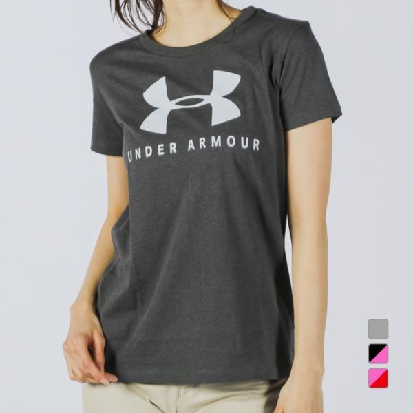 アンダーアーマーレディース半袖TシャツUAGRAPHICSPORTSTYLECLASSICCREW1346844スポーツウェアU