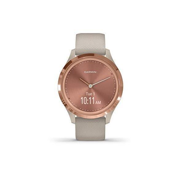 Garminv?vomove3Sハイブリッドスマートウォッチ本物の時計針と隠しタッチスクリーンディスプレイローズゴールドライトサ