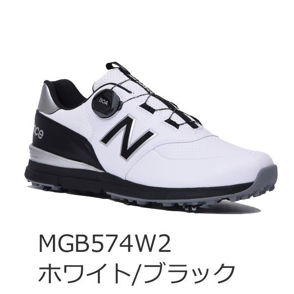 2019年モデル ニューバランス ゴルフ boa ソフトスパイク シューズ メンズ MGB574 V2 (W2 / T2) / 日本正規品 / NEW BALANCE|alphagolf|02