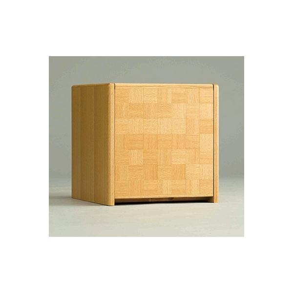 コンパクト仏壇 キューボ 幅34.2cm 高さ34.5cm 天然木ナラ 市松模様 LED照明 現代仏壇 モダン仏壇 手元供養 送料無料 日本製 ALTAR セール|altar|02