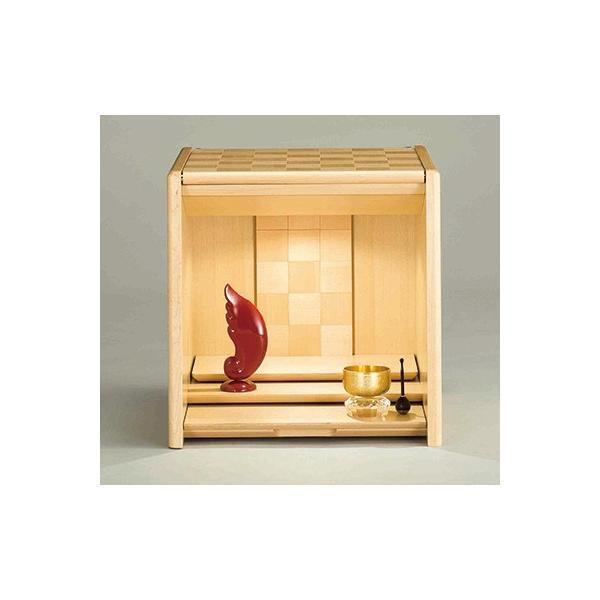コンパクト仏壇 キューボ 幅34.2cm 高さ34.5cm 天然木メイプル 市松模様 LED照明 現代仏壇 モダン仏壇 手元供養 送料無料 日本製 ALTAR セール|altar|03