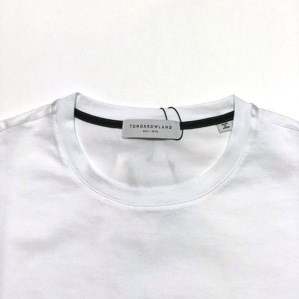 TOMORROWLAND トゥモローランド メンズ SUVIN COTTON クルーネックTシャツ|altasotto|02