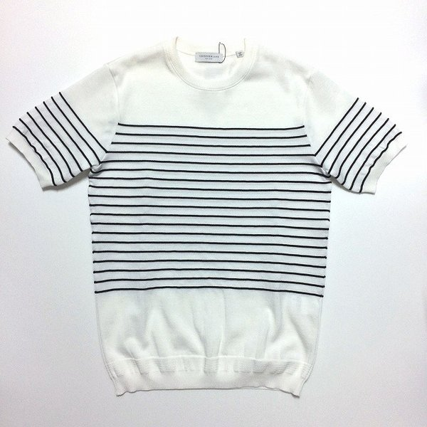TOMORROWLAND トゥモローランド メンズ ロープストライプ ニットTシャツ altasotto 02